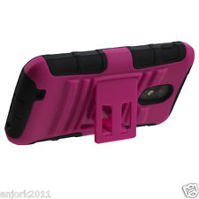 Sprint Samsung Galaxy S II 2 D710 AA Hybrid Case Skin Cover w/Stand Hot Pink