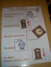 HICKORY DICKORY DOCK  NURSERY RHYME BOARD GAME special needs