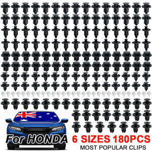 180X For HONDA CIVIC CRV Door Trim Clips Engine Cover Undertray Fender Rivets AU