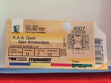 Football Ticket -  Kaa Gent La Gantoise - Ajax Amsterdam 2000 UEFA