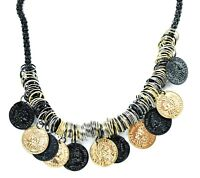 Retro Tribal Gypsy Coins Collar Ethnic Turkish Bohemian Statement Coin Necklace