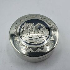 schöne Niello / Tula Silber Pillendose aus massiv Silber persischer Raum