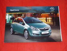 OPEL Corsa D Selection Edition 111 Jahre Innovation Sport GSi Prospekt von 2010