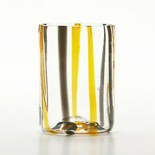 12 bicchieri tumbler Tirache di Zafferano Arancio/Nero - RIVNEDITORE