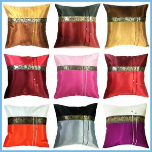 """6x SILK VINTAGE THROW DECORATIVE PILLOW COVER COUCH ELEPHANT SILK PILLOWCASES16"""""""