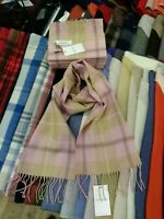 100% Lambswool tartan Scarf by Lochcarron | Pink Check | Made in Scotland