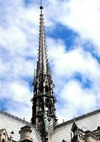 Beautiful Colour A4 Print of Notre Dame Cathedral Spire, Paris, France 23P