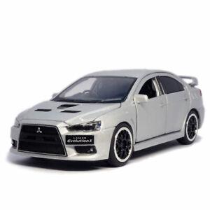 1/32 Mitsubishi Lancer Evolution X Model Car Diecast Toy Vehicle Gift Silver