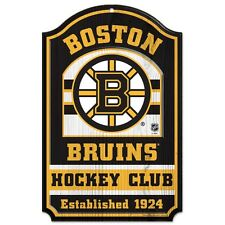 "BOSTON BRUINS HOCKEY CLUB EST. 1924 WOOD SIGN 11""X17'' BRAND NEW WINCRAFT"
