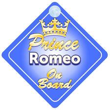 PRINCIPE EREDITARIO ROMEO A BORDO PERSONALIZZATA BABY BOY AUTO Firmare