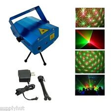 Mini Projector DJ Disco Light Stage R&G Party Laser Lighting Show Plug
