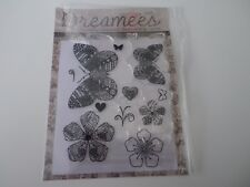Dreamees Rubber Stamp Set Butterflies, Flowers, Stems, Hearts