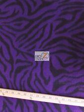 "ZEBRA PRINT POLAR FLEECE FABRIC - Purple - 60"" WIDTH SOLD BY THE YARD 4"