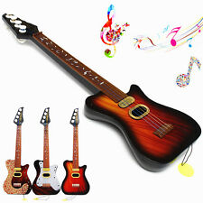 4 String Acoustic Guitar BASS Musical Instrument for Kids Baby Toy Beginner Gift