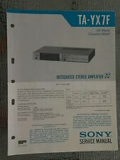 Sony ta yx7f Service Manual schematic stereo amplifier amp Original repair book