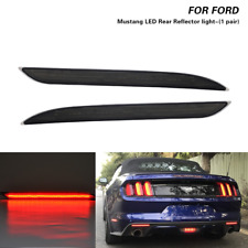 2x LED Tail Brake Lights Rear Bumper Reflector Lamp Fits Ford Mustang 2015-2017