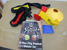 Trained Deluxe 10- Man Flag Football Set (Heavy duty nylon Belts). New