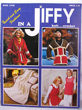 In A Jiffy Knit Crochet Pattern Book Quick Easy Fashions Afghans Sweaters VTNS
