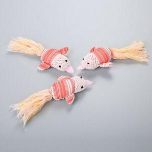 3PCS Haustier Katze behaart mit Schwanz süße Carbon Vogel Spielzeug Vocal Cord