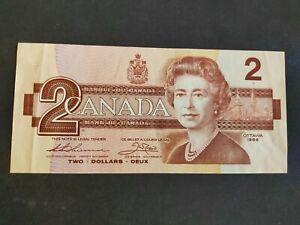 Canada billet 2 dollars 1986