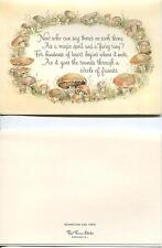 VINTAGE BUTTER COOKIE RECIPE PRINT 1 MUSHROOM FAIRY RING MAGIC SPELL ART CARD