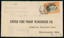 Mayfairstamps Philippines to United Fire Proof Warehouse Via Clipper Cover wwf_4