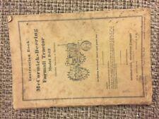 McCormick Farmall F12 Tractor Orignal IH Vintage Operators Manual w/ pull out