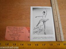 Kathryn Etienne 1953 A.T.N. Ballet Dance recital and photo postcard Hollywood CA