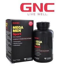 GNC Mega Men Sport Mens Health Muscle Support Multivitamins and Minerals 90caps