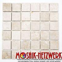 Marmor Mosaik creme Küche Wand Dusche Badezimmer WC | Art: WB36-0106 | 1 Matte
