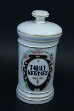 Pot à pharmacie Porcelaine vieux Paris Antique Apothecary Jar Tabel Kermes