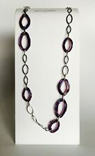 Antica Murrina Broadway--Handmade Iridescent  Murano Glass Link Chain Necklace