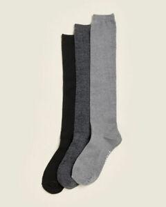 Steve Madden 3 Pack Speckled Marled & Solid Knee High Socks Shoe Size 5-10 NWT