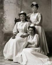 Antique Nurses Early Nursing Uniforms Ishpeming Michigan Nurse Hats 1890 LOOK