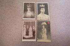 4 Vintage Postcards Royalty Queen Mary - some stamps