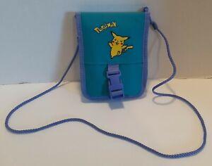 Retro🔥PIKACHU🔥 Pokemon Nintendo Gameboy Carrying Case Holder. Blue/ Purple