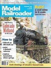 Model Railroader Feb.1995 N HO Scale Colorado Midland Work Car Coal Mine Funeral
