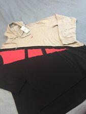 STAPLE GREY/BLK/PNK HOODED  LONG SLEEVE SHIRT SZ XL !!! NEW !!!