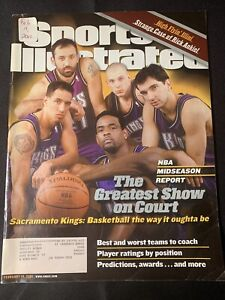 "Sports Illustrated Sacramento Kings ""Greatest Show On Court"" Magazine 2/19/2001"