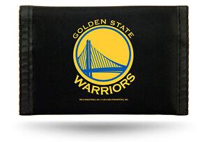 Golden State Warriors NBA Nylon Trifold Wallet ~ NEW