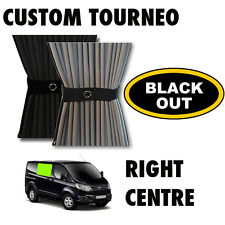 BLACK OUT - Transit Custom TOURNEO Curtain Kit  - Right Centre Curtains