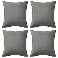 "Set of 4 x IKEA GURLI Grey 50x50cm 100% Cotton Cushion Covers (20""x20"") UK-P786"