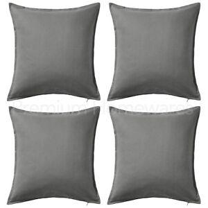 "Set of 4 x IKEA GURLI Grey 50x50cm 100% Cotton Cushion Covers (20""x20"") UK-NS"