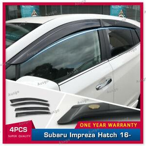 AUS Luxury Weather Shields Weathershields for Subaru Impreza Hatch 2016+ T