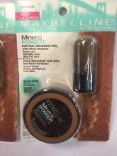 LOT OF 3 - Maybelline Mineral Power Natural Bronzing Veil, SUNKISSED Bronzer NEW