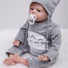 22-Inch Women Nursery Toys Adorable Reborn Boy Alive Doll Look Real Newborn Baby