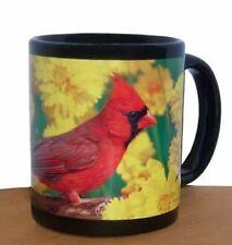 GC - Impact - 11oz Black Mug - Red Northern Cardinal