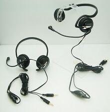 Lot of 2 New Plantronics .Audio 345 Black Neckband Gaming MultiMedia PC Headset