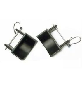 New Pair Plastic Jump Cups-Black with Metal Pin English Jumper Eventing Rider