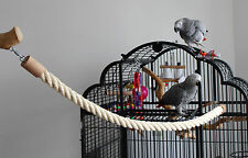 PAPPAGALLI giocattoli sede Fune, sede libero, sede asta di sisal 1m Moschettone madre